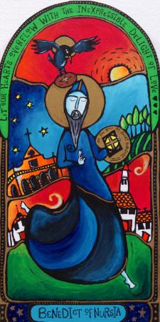 dancing st benedict icon