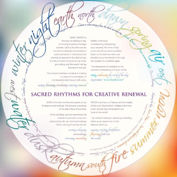 sacred rhythms for creative renewal - karen newe