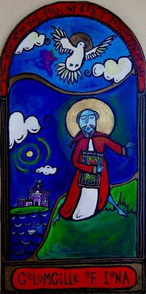 Columcille Dancing Monk icon