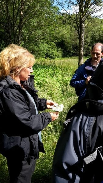 'Herbalist, Edwina Hodkinson on Spice Path walk', Springwater Park, Bury