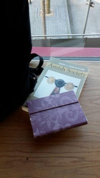 'Writing the Litany in a Prestwich coffee shop', Bury