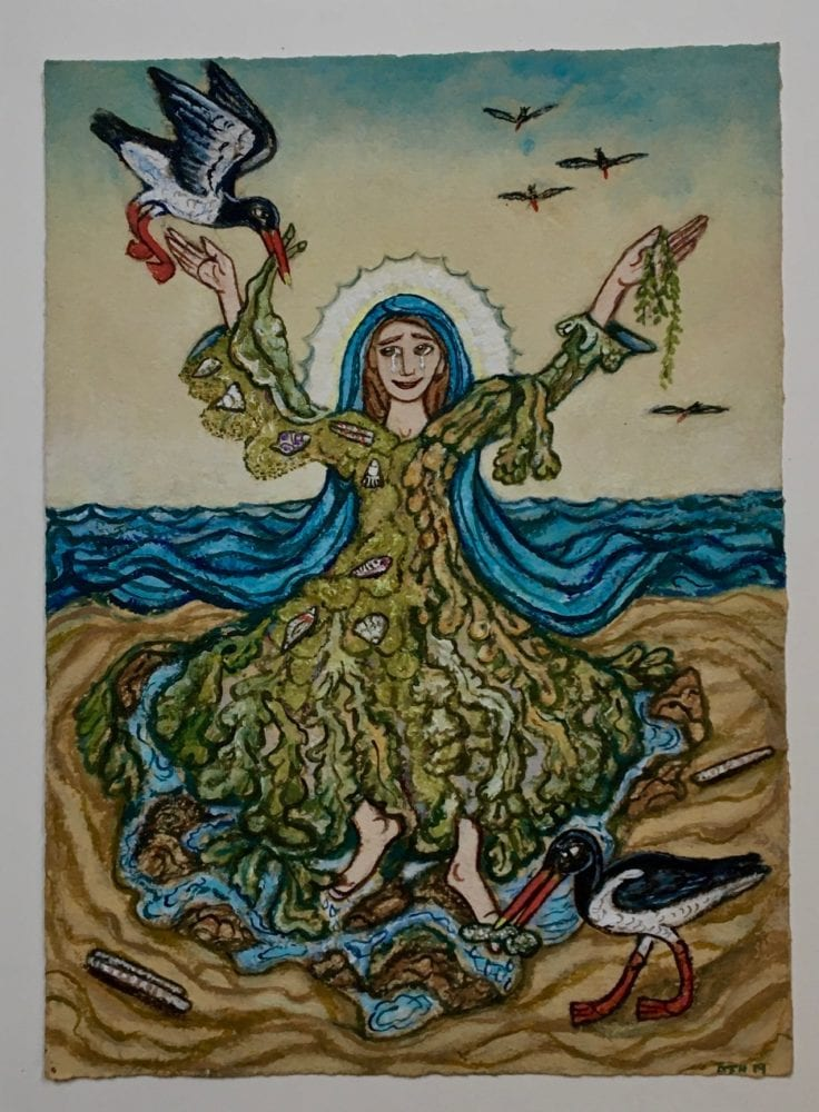 St Brigid and the Oystercatchers