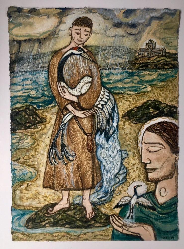 St Columba and the Crane
