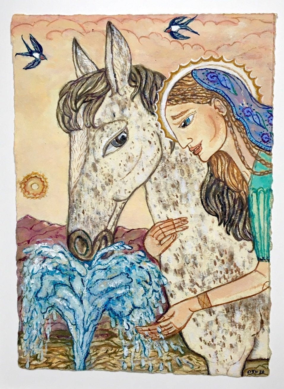 St Dympna and the Horse